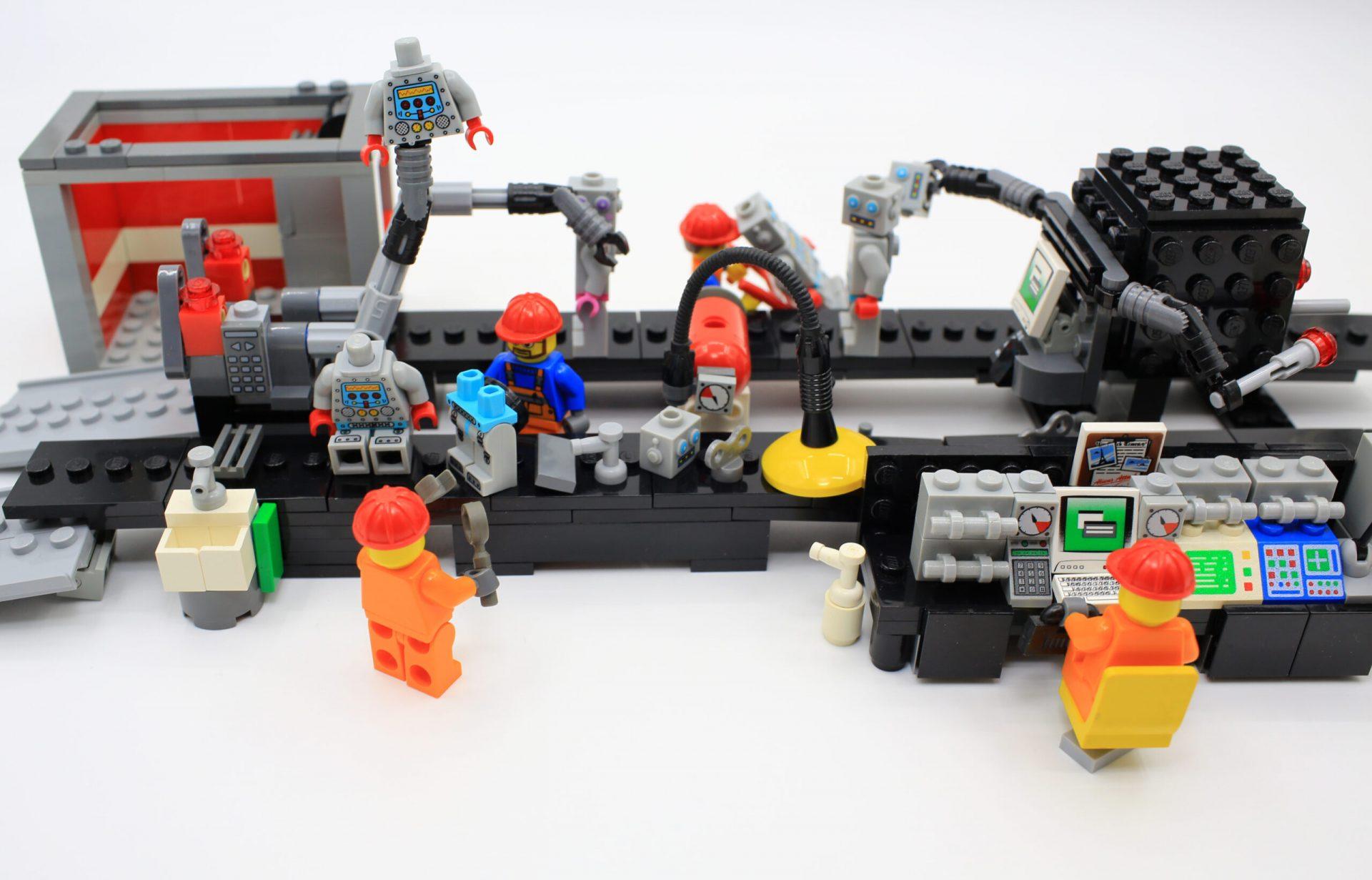 lego manufacturing plant replica